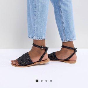 ASOS Black Woven Sandal